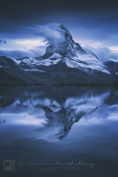 Long exposure of Matterhorn (4,478m) with reflexion in the Stelisee lake, Valais,Switzerland, September 2017